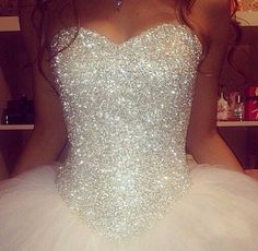 Disney princess wedding gowns awesome i don t know if this is a wedding dress or a prom dress but i m in Wedding Goals, Wedding Day, Gown Wedding, Tulle Wedding, Diamond Wedding Dress, Wedding Dress Sparkle, Wedding Blog, Quinceanera Dresses, Prom Dresses