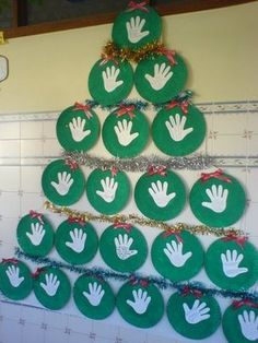 Winter Tree Crafts For Kids Toddlers Ideas Wall Christmas Tree, Christmas Projects, Christmas Themes, Kids Christmas, Christmas Decorations, Christmas Ornaments, Christmas Crafts For Toddlers, Preschool Christmas, Christmas Activities