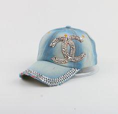 3e4190ff87a High Quality WOMEN brand baseball cap new fashion rhinestone crystal denim snapback  caps wholesale woman hip hop snapbacks hats