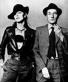 David Bowie with William Burroughs - 1974