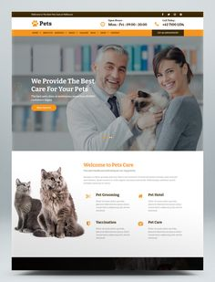 Pet Care and Veterinary HTML Website Template Html Website Templates, Pet Care, Your Pet, This Is Us, Pets, Animals, Animales, Animaux, Animal
