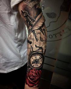 Beste Tattoo Sleeve Mandala Kompass 47 Ideen tattoo old school tattoo arm tattoo tattoo tattoos tattoo antebrazo arm sleeve tattoo Sea Tattoo Sleeve, Nautical Tattoo Sleeve, Lace Sleeve Tattoos, Vintage Tattoo Sleeve, Girls With Sleeve Tattoos, Tattoo Sleeve Designs, Tattoos For Guys, Diy Tattoo, Tattoo Fonts