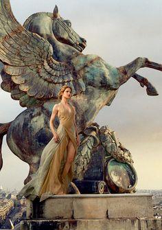 horsesenvogue:  Natalia Vodianova for Vogue US, November 2014 by Annie Leibovitz