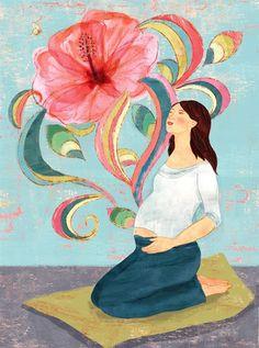 Blissful Birth by weathergirlshop Birth Quotes, Pregnancy Art, Early Pregnancy, Pregnancy Stages, Birth Art, Birth Affirmations, Birth Doula, Water Birth, Happy Birth