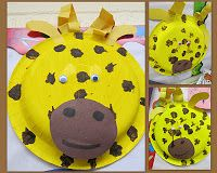 photo of: giraffe crafts, paper plate craft for zoo animals, preschool jungle crafts, easy crafts for zoo theme