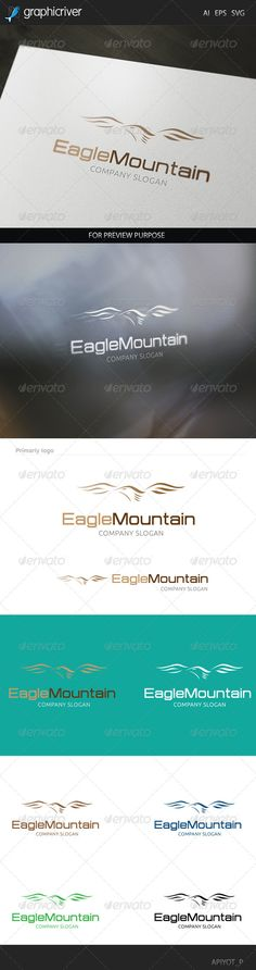Eagle Mountain Logo — Vector EPS #corporation #flight • Available here → https://graphicriver.net/item/eagle-mountain-logo/8293129?ref=pxcr