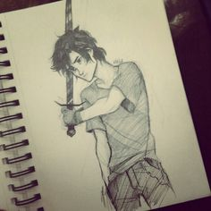 Nico DiAngelo - One of the few drawings I have seen of him I can actually imagine to be realistic.