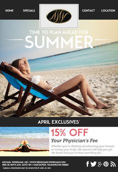 Use our April exclusives to your advantage and plan ahead for #Summer! #PlasticSurgery