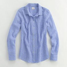 Factory classic button down shirt in suckered gingham J.Crew Factory