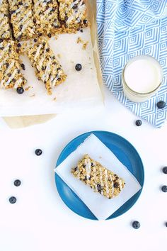 Lemon Blueberry Breakfast Bars with Sweet Lemon Icing. Gluten free and dairy free   Back To The Book Nutrition