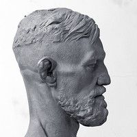 ArtStation is the leading showcase platform for games, film, media & entertainment artists. Human Sculpture, Sculpture Head, Traditional Sculptures, Classic Portraits, Modelos 3d, Plastic Art, Arte Horror, Auguste Rodin, Male Face