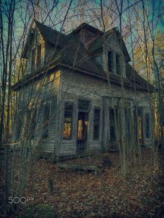 Abandoned by Kristin Thistle on Abandoned Property, Old Abandoned Houses, Abandoned Buildings, Abandoned Places, Abandoned Castles, Scary Places, Haunted Places, Creepy Houses, Haunted Houses