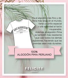 ¿Sabías que las t-shirts #byFelicity son de algodón pima? Es lo más! #moda #muyfelicity  www.felicityurban.com :: Felicity Urban ::