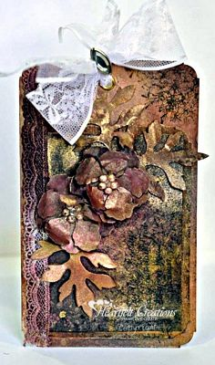 Heartfelt Creations | Mixed Media Vintage Floret Tag