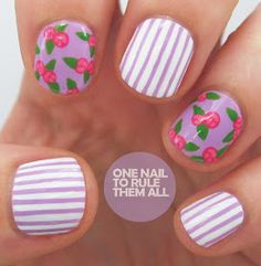 One Nail To Rule Them All: Then and Now: Lilac Roses