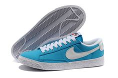 new style 7855f 5a82e Women Nike Blazer Low Cultural Vintage Shoes sky blue
