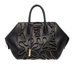 Stella McCartney Cavendish Faux-Nappa Zipper Boston Tote Bag: Read My Zips
