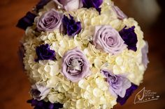 Wedding Details: Bouquets & Flowers, purple and white !