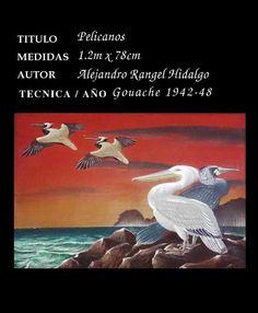 Pelicanos en venta obra de Alejandro Rangel