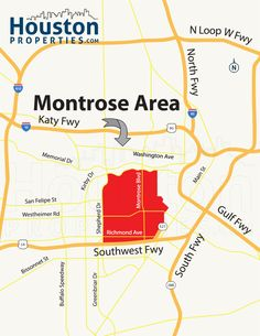 Marvelous Montrose Houston Map