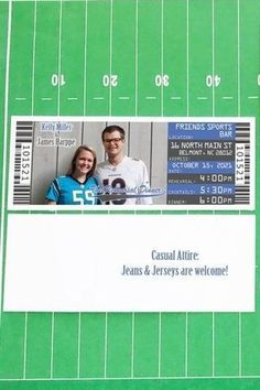 These are the perfect fit for your Sports, Baseball or Football Theme Wedding Rehearsal Dinner. Make your Invitation fit your theme by inviting your guests with with tickets! These are also available with an RSVP card or Postcard, custom made just for you! Softball Wedding, Golf Wedding, Sports Wedding, Wedding Rehearsal, Rehearsal Dinners, Sports Baseball, Soccer, Team Theme, Football Themes