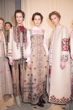 Paris Haute Couture Fashion Week: Russian folklore in new Valentino Haute Couture collection