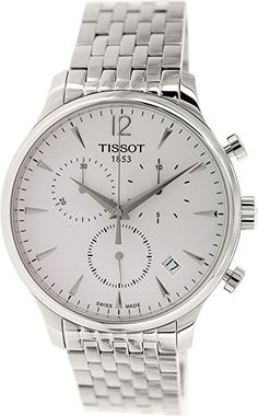 8250eda079d Tissot White Dial Stainless Steel Chronograph Quartz Men s Watch  T0636171103700