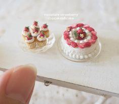 2018.04 Miniature Strawberry Cake ♡ ♡ By pansbear