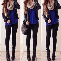 Cute Outfits tumbler idea for teen girl outfits Look Fashion, Teen Fashion, Fashion Outfits, Womens Fashion, Fashion Ideas, Fall Fashion, Latest Fashion, Jackets Fashion, Fashion 2015