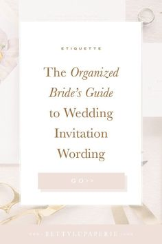 When it comes to wedding planning, your wedding invitation wording is a tiny but mighty detail to focus on. Learn how to word your wedding invites with these super helpful wedding planning tips. Wedding Invitation Wording Examples, Wedding Wording, Wedding Invitation Etiquette, Wedding Planning Timeline, Wedding Invitation Inspiration, Wedding Etiquette, Classic Wedding Invitations, Wedding Invitation Suite, Wedding Stationary