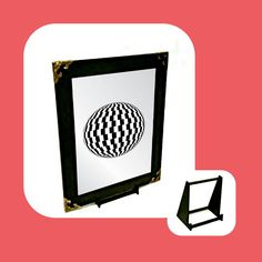 Optical Illusion Engraved Mirror Only Wall Hanger, Optical Illusions, Adhesive, Mirror, Gifts, Presents, Mirrors, Favors, Gift