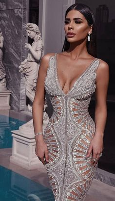 Custom Dresses inspired by Haute Couture Designer Evening Fashion You can have custom dresses made that are inspired by Haute Couture Evening gowns by our fashion design firm. Elegant Dresses, Sexy Dresses, Fashion Dresses, Formal Dresses, Unique Dresses, Detailed Wedding Dresses, Sexy Gown, Fitted Dresses, Glam Dresses