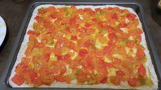 Pizza semi integrale ai peperoni