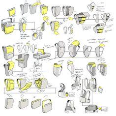 Sketching  Rendering by Jesse Moore, via Behance.