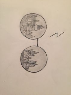Harry Potter drawing of Hogwarts