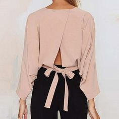 Women Sexy Crop Tops Bowknot Blouses Shirts
