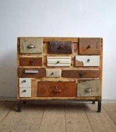 Handmade - Old Kitchen Cabinets Front Drawers @ LoftDesign