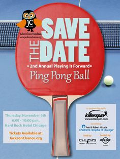 Jackson Chance Foundation's awesomely themed event: Ping Pong Ball #auctiontheme #auctioninvitation