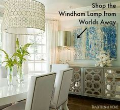 Windham Lamp from Worlds Away as seen in Traditional Home