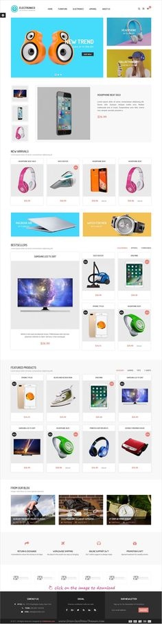 Clean and modern design 4in1 responsive #prestashop theme for stunning #technology shop #eCommerce website to live preview & download click on the image.