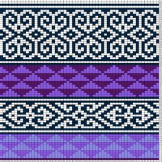 Tricksy Knitter Charts: Purple Graphic