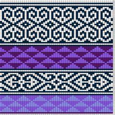 Tricksy Knitter Charts: Purple Graphic