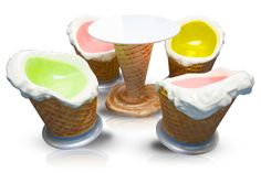 ice cream furniture cream ice, babi style, cream tabl, cream furnitur, ice cream, eat, chair awesom, cream packag, crean tabl