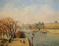 The Louvre, Morning, Sun via Camille Pissarro Size: 73.7x92.7 cm Medium: oil on canvas