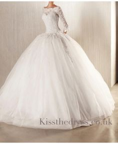 Ball Gown Lace Wedding Dress. In love!!