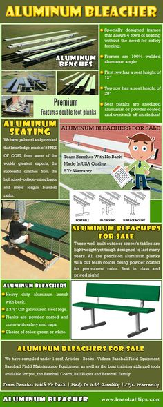 Visit this site http://baseballtips.com/ for more information on Aluminum Bleacher. The ultimate goal of acquiring such equipment is always to have the audience feel comfortable while viewing sports gatherings, live performance, music competition or other special affair. Movable Aluminum Bleacher is created to be used for activities that will only last for days and to maximize the area and occupancy.  Follow Us : http://coachjpbaseballtips.blogspot.com/2015/07/aluminum-bleacher.html