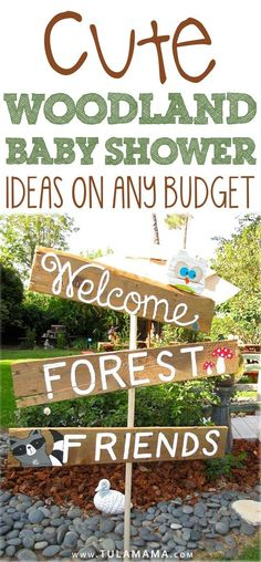 Cute Woodland Baby Shower Ideas For Any Budget Waldbaby-Duschen-Thema. Baby Shower Food For Girl, Baby Shower Favors, Baby Boy Shower, Signs For Baby Shower, Baby Boy Favors, Shower Gifts, Forest Baby Showers, Animal Baby Showers, Themes For Baby Showers