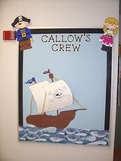 What kiddo wouldn't love walking into a pirate themed classroom???