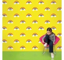 Rainbow Yellow Removable Wallpaper