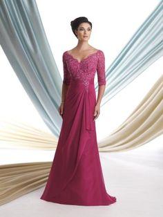 A-line/Princess Half-Sleeve V-Neck Mother Of The Bride Dresses